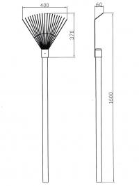 Грабли веерные арт. 3.449